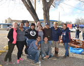 Northern Arizona University and Environmental Health Sciences Transformative Research Undergraduate Experience students with members from the UA team.