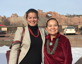 Paloma Beamer and Karletta Chief in Window Rock, Navajo Nation capital.
