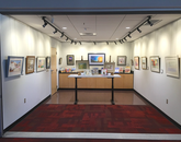 The Worlds of Words Art Studio, in the Education Building, rotates displays of original art from picture books centered on a theme. (Rebecca Ballenger/UA College of Education)