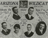The Arizona Daily Wildcat staff, as printed in the 1917 yearbook.