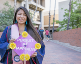 Monique Harvey, a public health graduate, plans on moving to Colorado to work with the Upward Bound program in Boulder. (Photo: John de Dios/UANews)