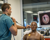 ASTEC's manikins allow students and health care providers to practice on realistic models before providing care to an actual human being. (Photo by Kris Hanning/Health Sciences)