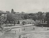 Facing the north side of campus, looking toward the Santa Catalina Mountains.