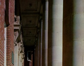 The columns of what is now known as the Forbes Building, which houses the UA College of Agriculture and Life Sciences.