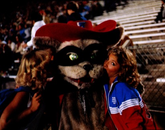 Wilbur Wildcat and some of his fans during the 1981 season.