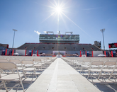 A moment of stillness before the start of the Commencement ceremony.