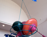 "Scott M. Wallace's ""Cornucopia"" hangs in the lobby of the Student Recreation Center. (Photo courtesy of the UA Museum of Art)"