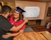 Crystal Alyssia Raygoza, one of the 2020 Robie Gold Medal winners, is graduating with a Bachelor of Science in family studies and human development, with a minor in Spanish. She celebrated her College of Agriculture and Life Sciences convocation at home with family. (Photo: Chris Richards/University of Arizona)