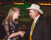 4-H member Lindy Hauser met Arizona Senator David Gowan at the Clover Ball.