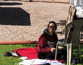 I was getting my much-needed Vitamin D for the day. It's amazing how much you get accomplished when you love where you work. Birds singing was a nice touch. Bird pooping on my papers I could have done without. – Elba C. Lorenz, program coordinator in the Pinal County Cooperative Extension office