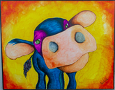 """Pondering Cow"" by Norma Trujillo, family of Michael Trujillo, pre-award manager in Sponsored Projects and Contracting Services in the Office of Research, Discovery and Innovation (people's choice award and honorable mention)"