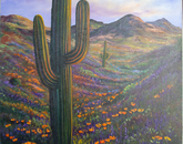 """Arizona Saguaro Landscape"" by Carolyn Bothwell, administrative associate in the Department of Medicine at the College of Medicine – Tucson"