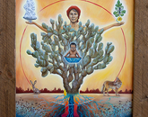 """Mother Nopal"" by Ruben Urrea Moreno, senior exhibit specialist at the Arizona State Museum (first place, professional category)"