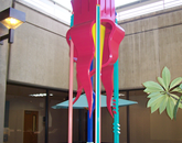 "Scott M. Wallace's ""State Fear"" is at the Arizona Cancer Center, in its interior atrium. (Photo courtesy of the UA Museum of Art)"