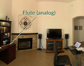 Here is the lonely analog flute among the digital home music studio appliances.– Brian Luce, professor, Fred Fox School of Music