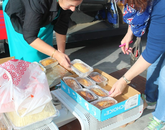 Quick breads were among the items prepared and donated for the Thanksgiving Dorm Bash.