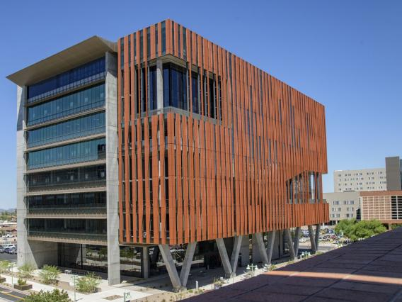 The nine-story, 220,000-square-foot Health Sciences Innovation Building opened its doors at North Cherry Avenue and East Mabel Street this summer.
