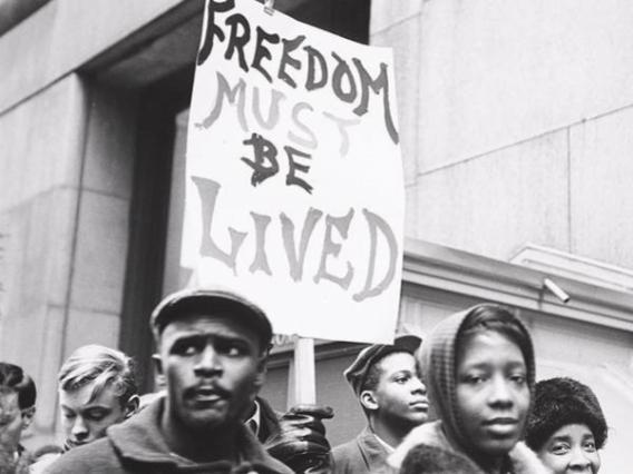 """Chicago School Boycott, 1963-64,"" photo by Marion Palfi"