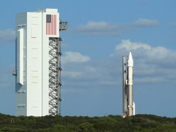 The Atlas V rocket carrying the OSIRIS-REx spacecraft was rolled out Wednesday morning from the Vertical Integration Facility  to Space Launch Complex 41 at Cape Canaveral, Florida.