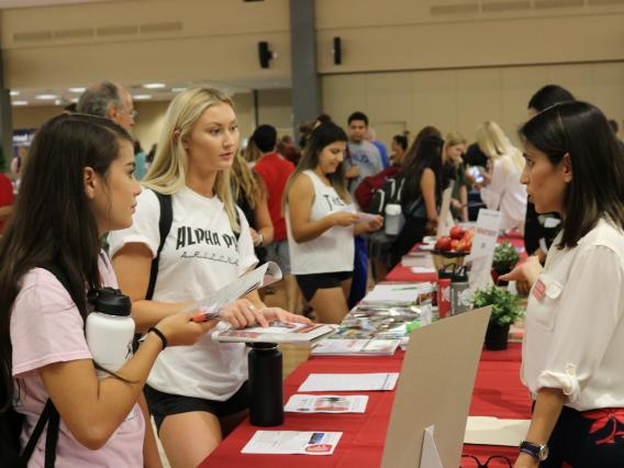 The annual Study Abroad Fair invited UA students to explore more than 100 programs across 60 countries.