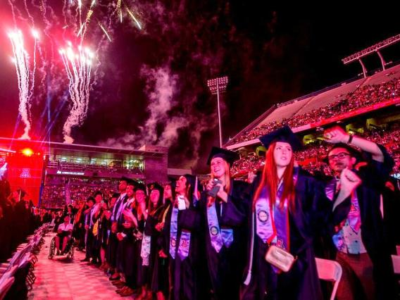 The UA will celebrate the achievement of thousands of graduating students on Friday. If you can't attend the event, it will be streamed live by Arizona Public Media.