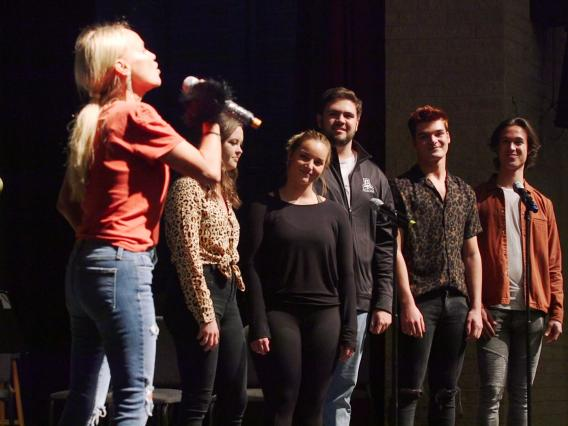 UA musical theater students rehearse with actress Kristin Chenoweth for a one-night performance in Tucson.