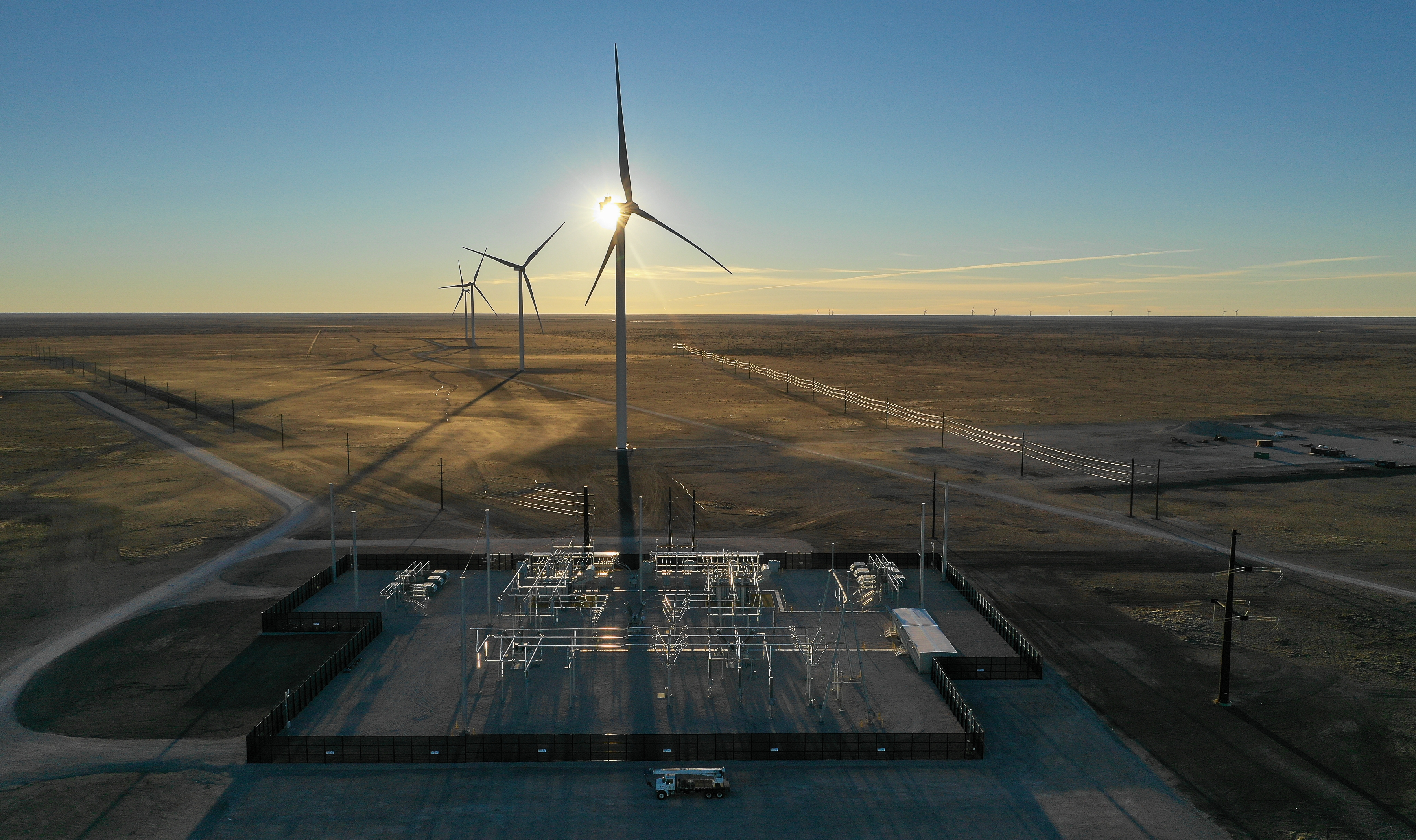 Wind turbines in New Mexico