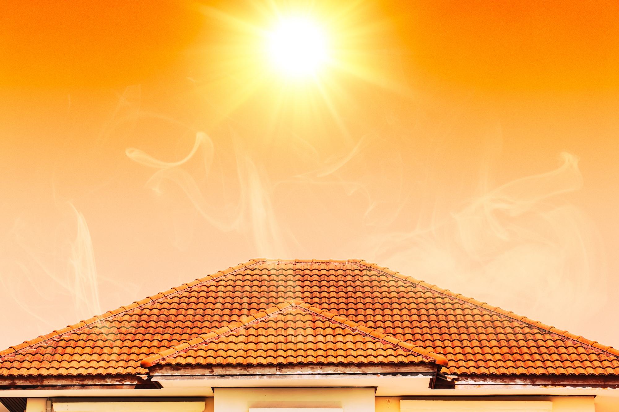 a house with a sun over it