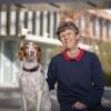 Lisa Shubitz with a dog