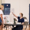 students getting tested for COVID-19