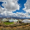 Biosphere 2 and surrounding desert landscape