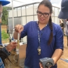Dine College students learn to take conductivity measurements