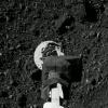 OSIRIS-REx sample arm and Bennu surface