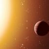 artist's impression of a hot Jupiter planet