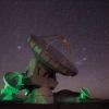 Radio telescope at the Atacama Large Millimeter Array in Chile