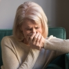 a woman experiencing grief