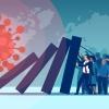 Concept art illustrating economic impact of COVID-19 pandemic