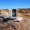 The latest design of the enclosure, telescope and site at Las Campanas Observatory in Chile.