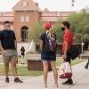 Students in front of Old Main