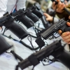guns in a showroom