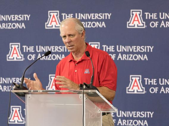President Robbins at press conference