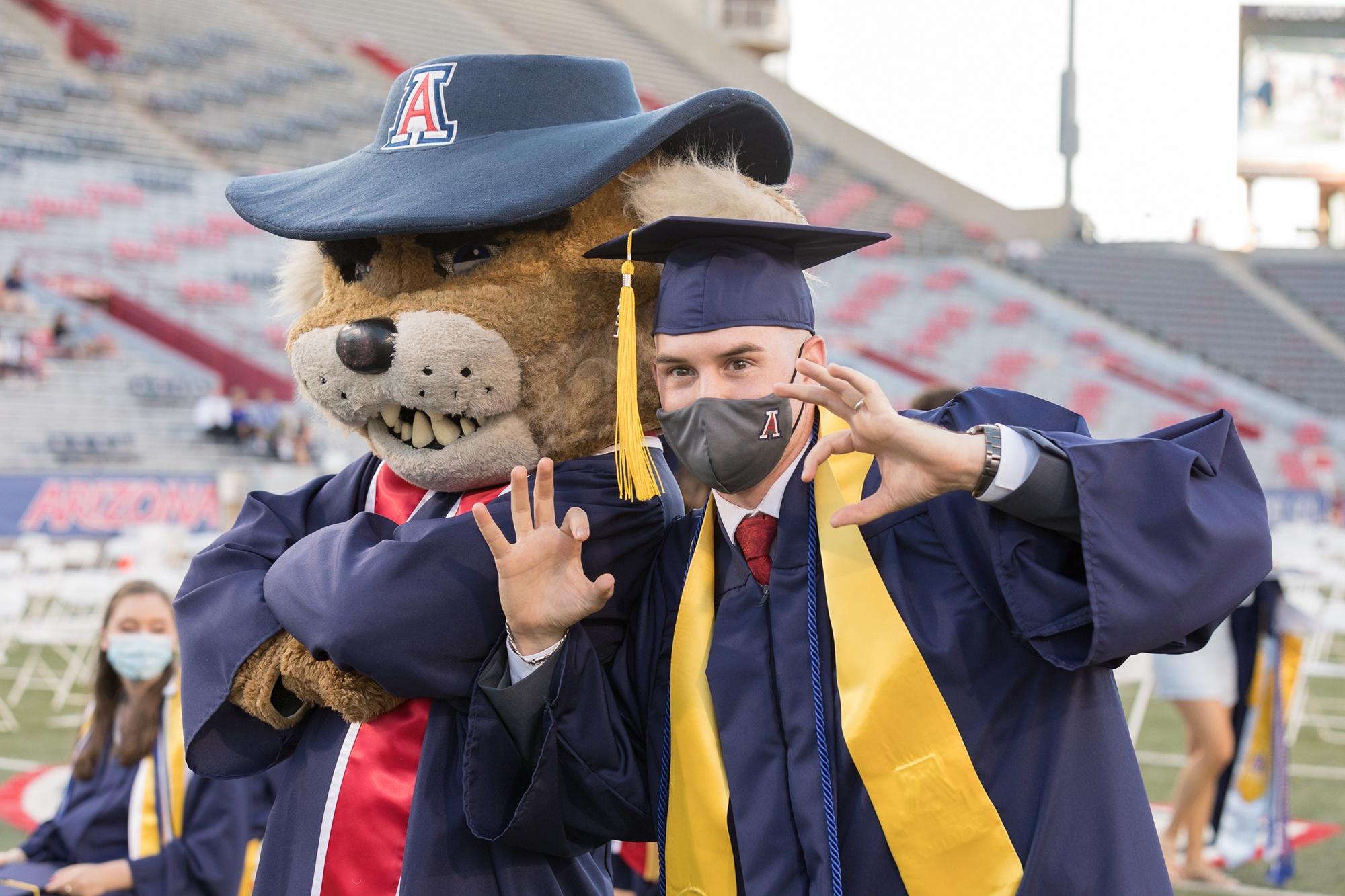 students at a graduation ceremony