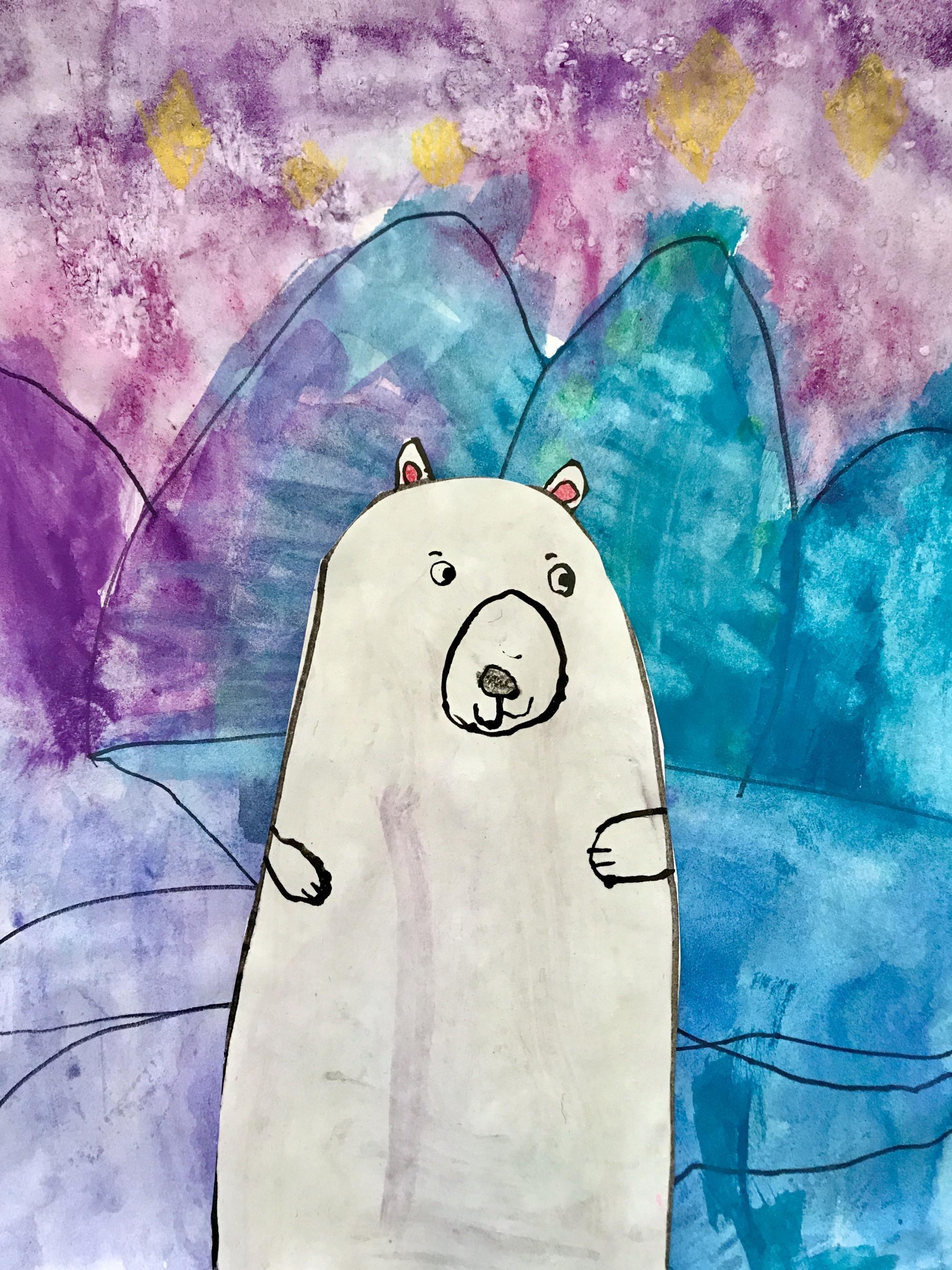 """Polar Bear at Night"" by Ezra Coan"