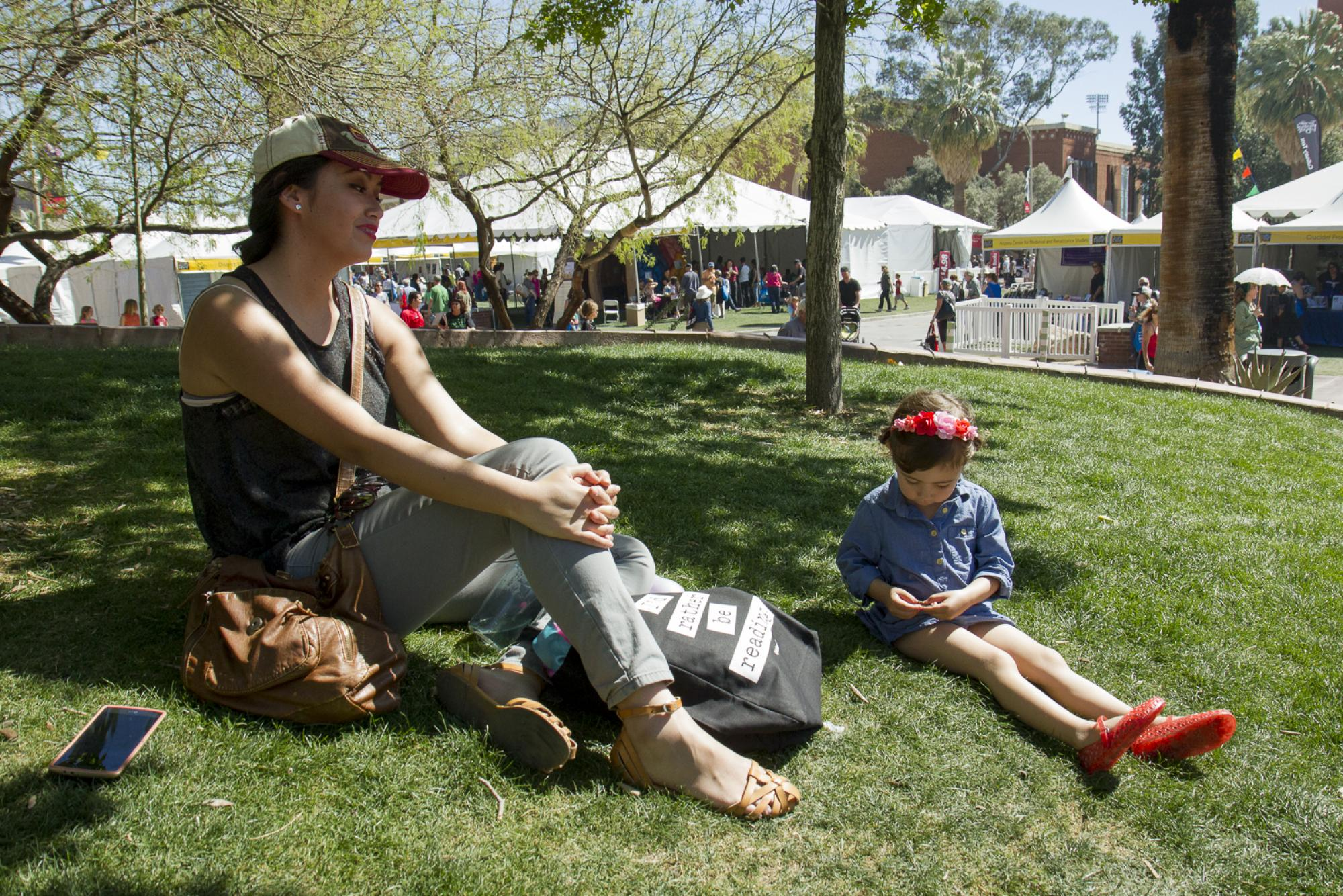 Nora and Emmy Herrera of Rio Rico, Arizona, attend the festival.