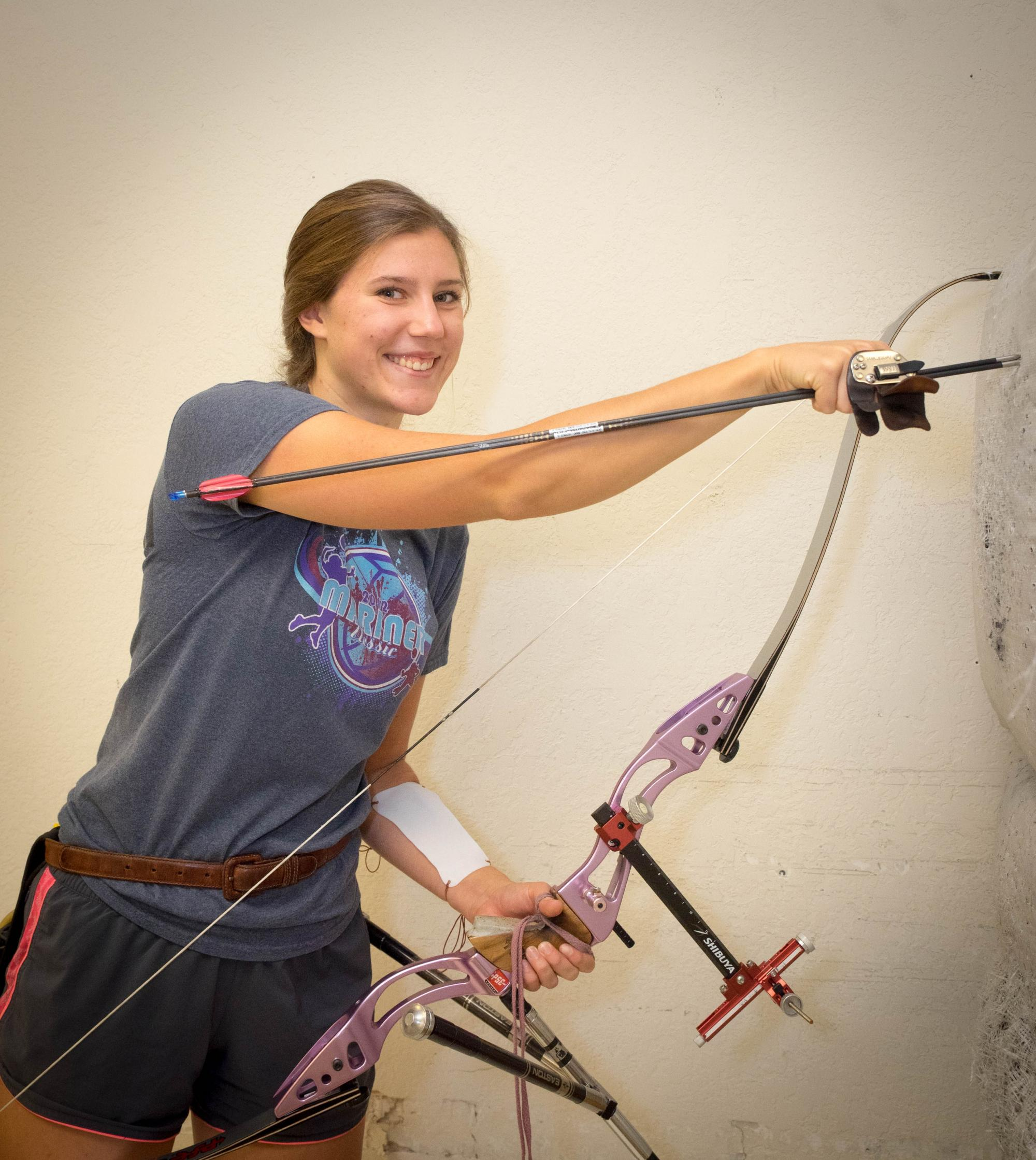 Club member Madison Eich, a student in the College of Engineering, enjoys a Saturday morning at the range.