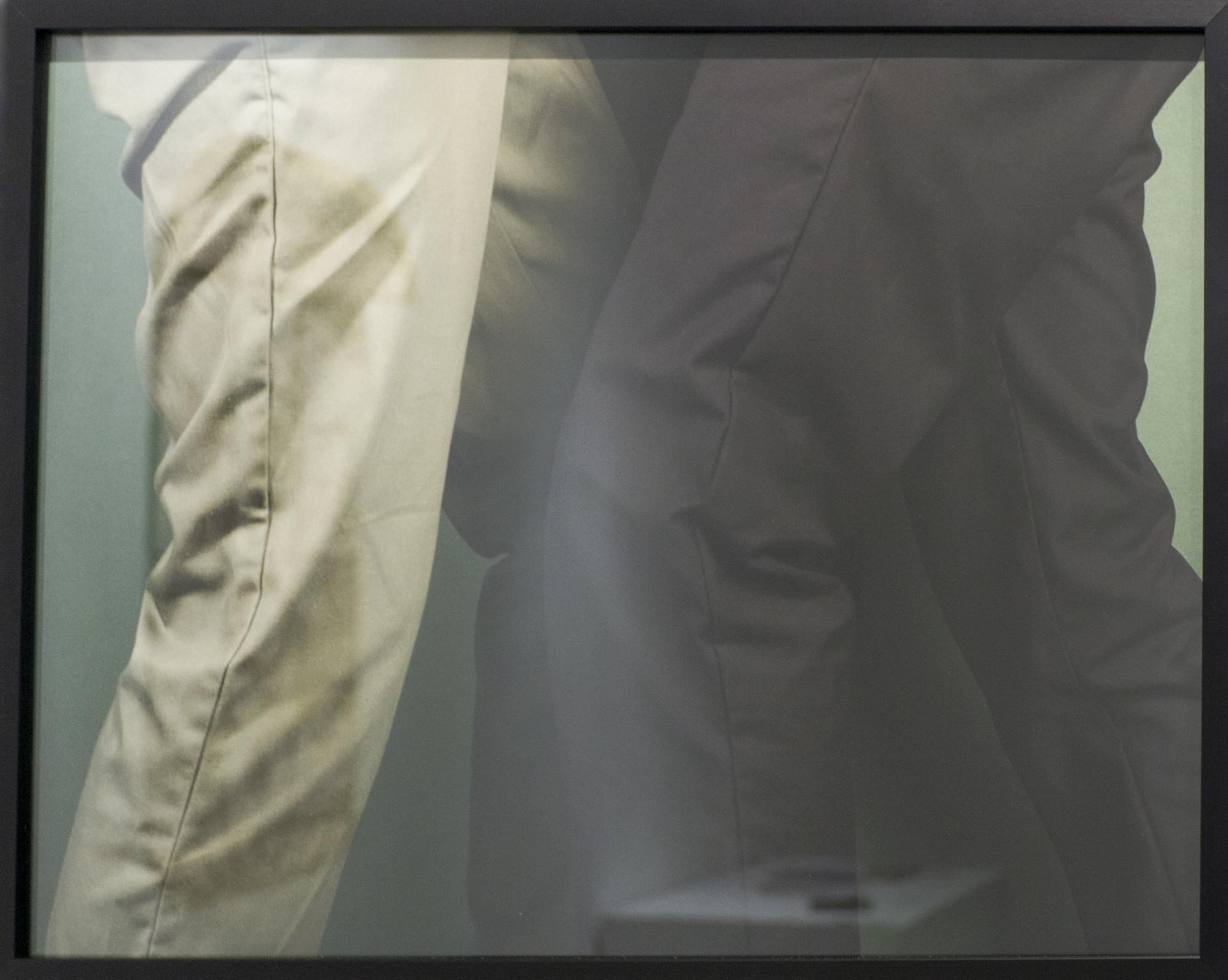 """""""Two Men in a Hallway,"""" a digital inkjet print by Paul Gordon."""