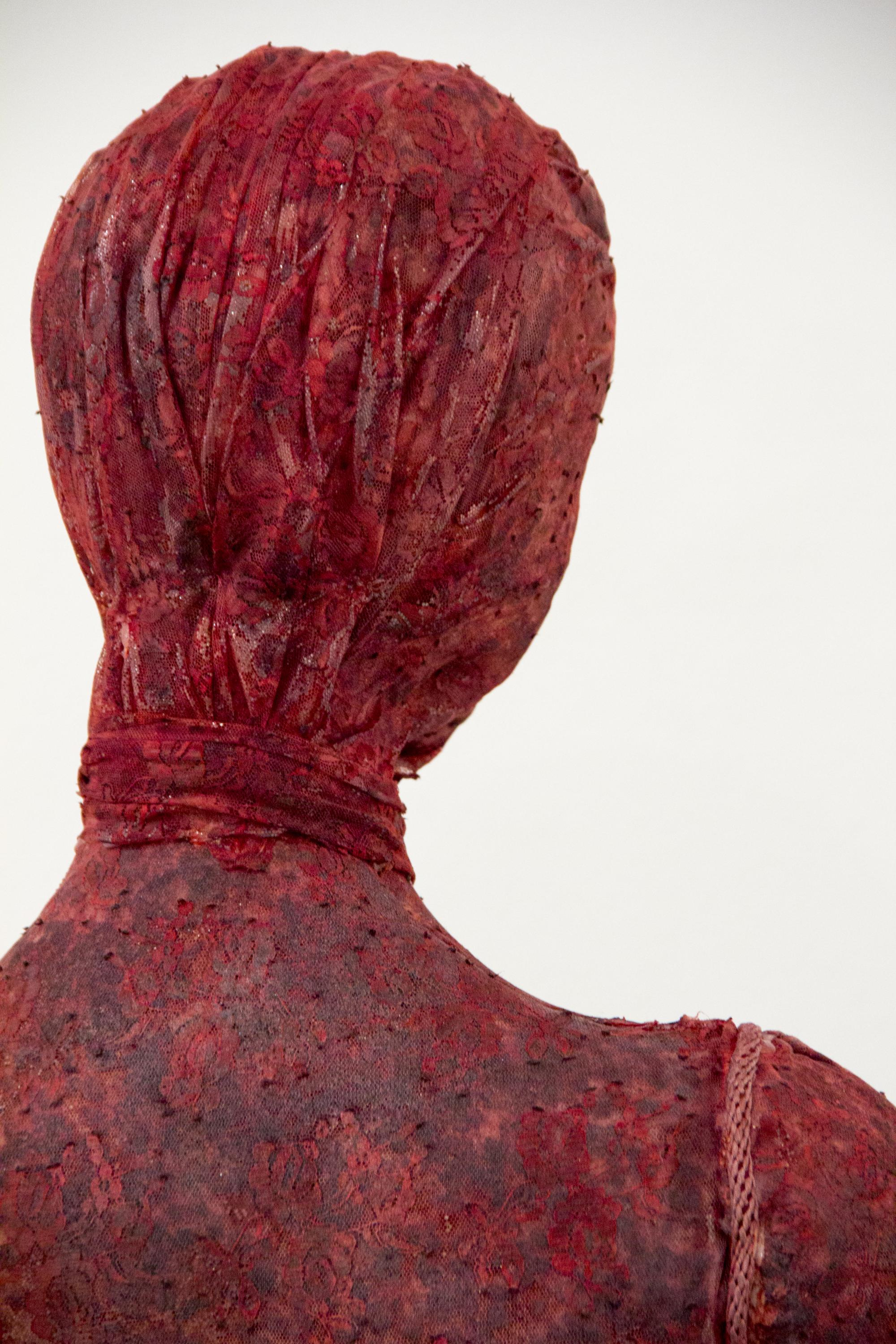 """A detail view of """"The Source,"""" a mixed-media sculpture by Honors College student Ellen Pott."""