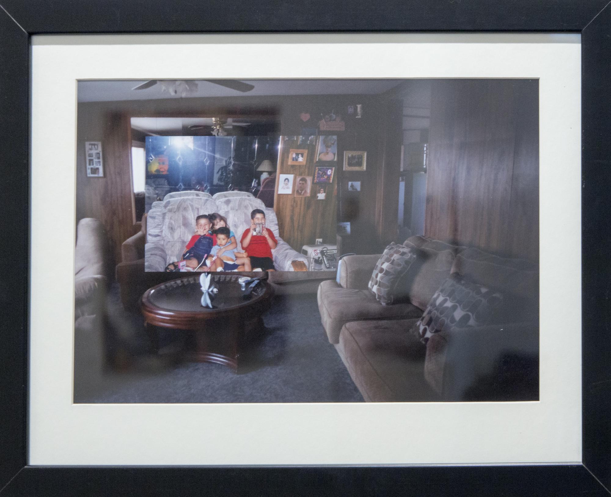 """2003,"" an inkjet print by Chelsey Iglecias, a studio art student."