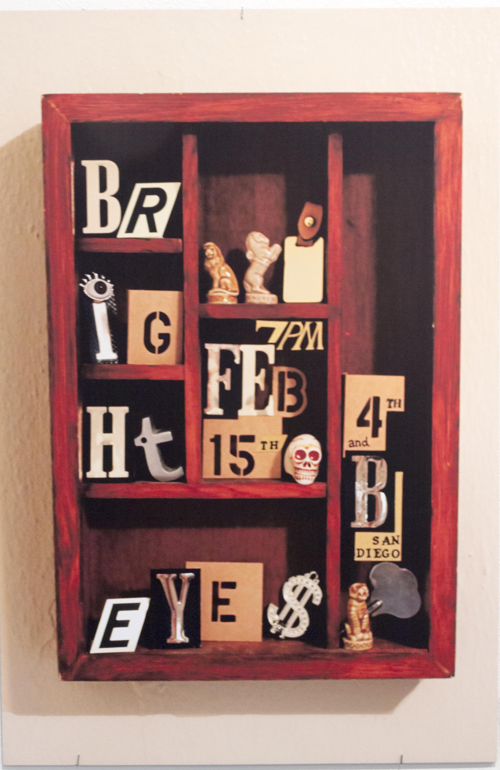 """Bright Eyes Concert Poster,"" a digital print by Aubrie Brewster, a studio art graduate."
