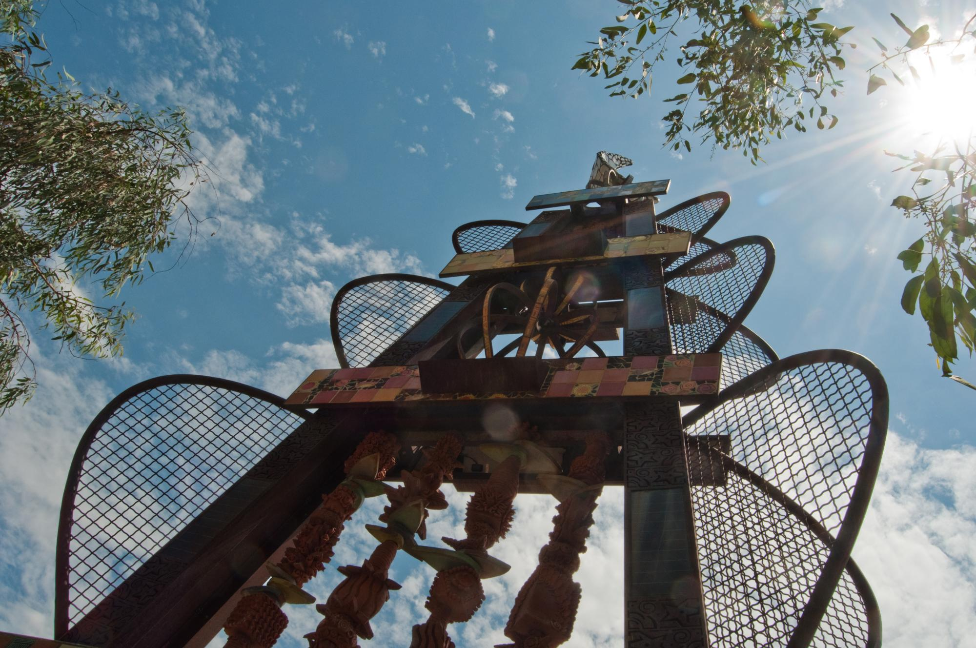 """Susan Gamble's """"Uaspire #1"""" is just south of the Student Union Memorial Center."""